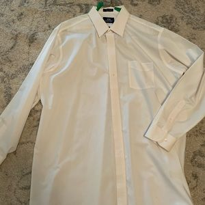 Stafford White Wrinkle Free Dress Shirt Size 18.5